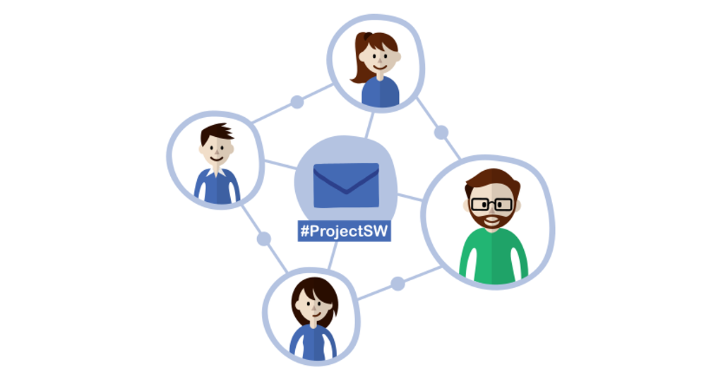 Email is the center of collaboration for project management